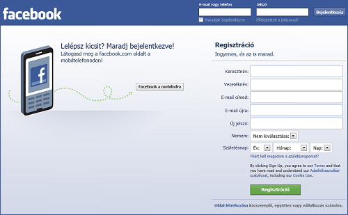Facebook Magyar Bejelentkezés