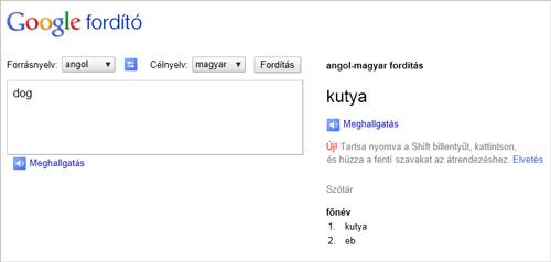 olasz magyar fordító ingyen