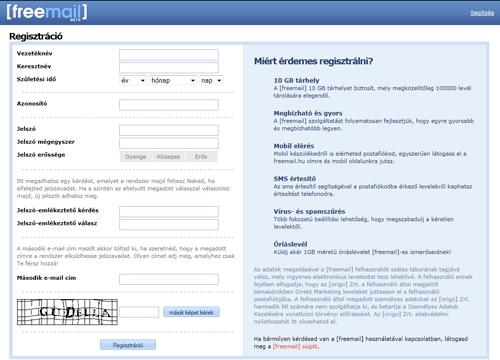 freemail hu regisztráció