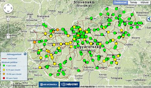 elvira vonat térkép Vonat menetrend   ELVIRA.hu elvira vonat térkép